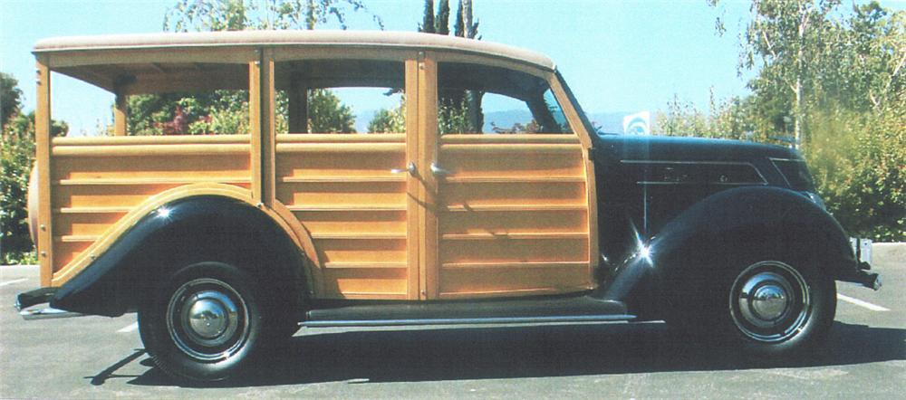 1937 FORD WOODY WAGON - Side Profile - 22400