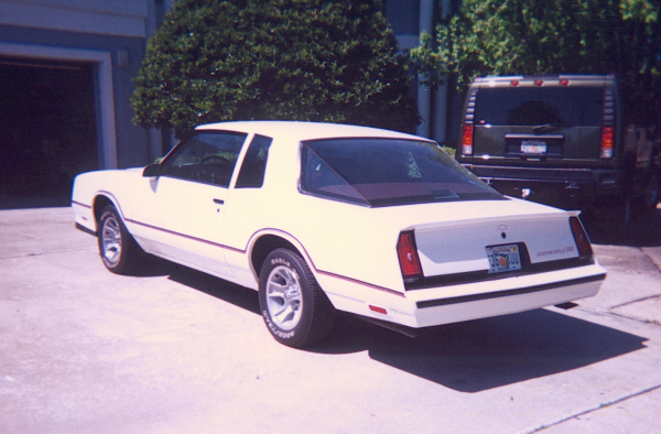 1986 CHEVROLET MONTE CARLO SS AERO COUPE - Rear 3/4 - 22413