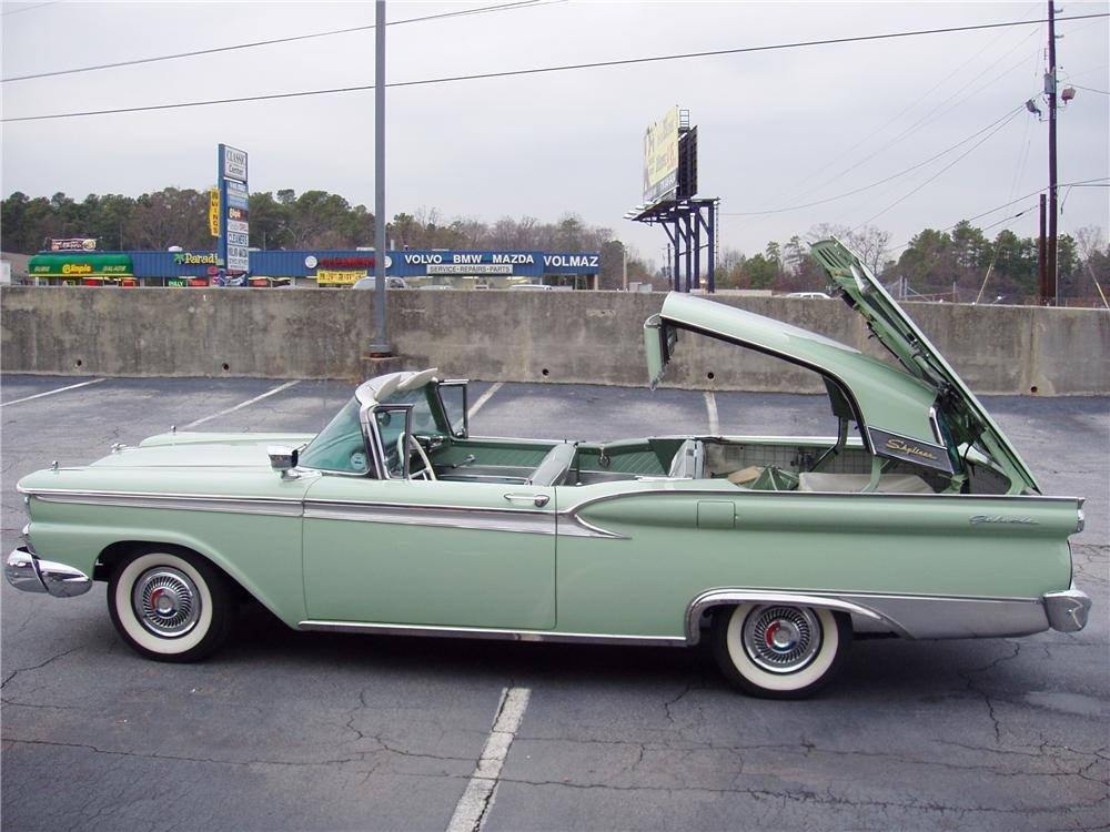1959 FORD GALAXIE 500 SKYLINER RETRACTABLE - Side Profile - 22419
