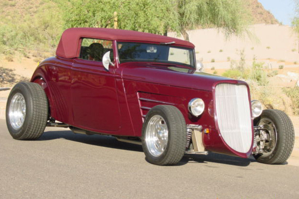 1933 FORD CUSTOM ROADSTER - Front 3/4 - 22436