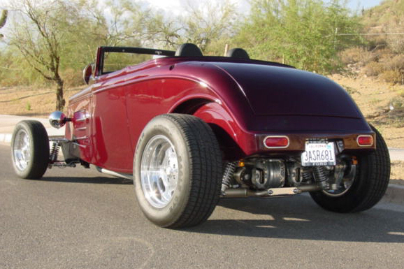 1933 FORD CUSTOM ROADSTER - Rear 3/4 - 22436