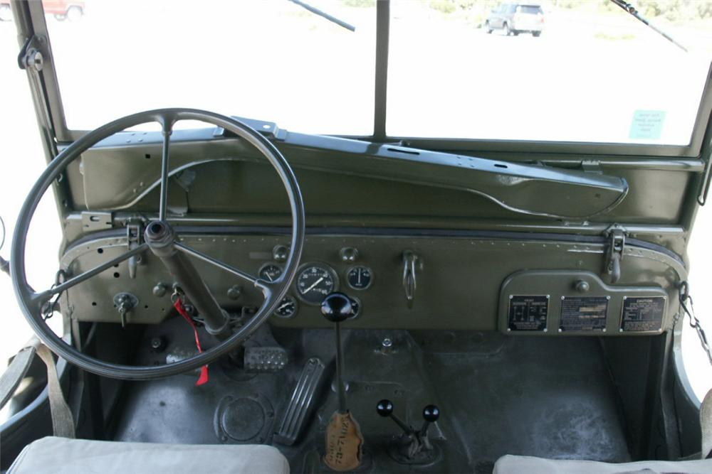 1944 FORD JEEP PREVIOUSLY OWNED BY FRANK SINATR - Interior - 22444