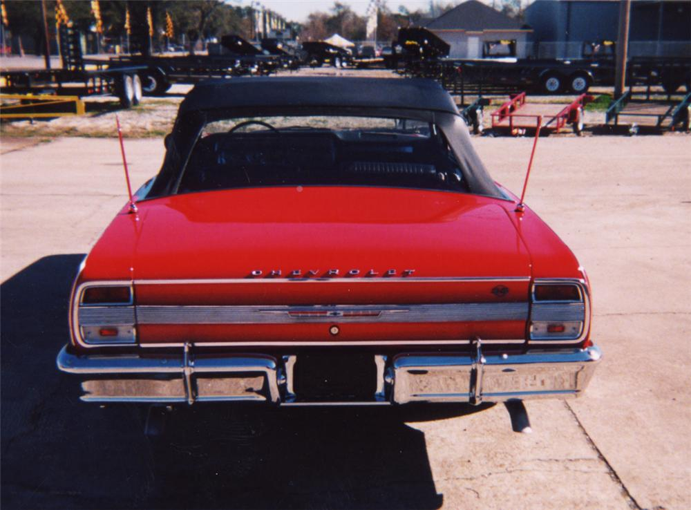 1964 CHEVROLET MALIBU SS CONVERTIBLE - Rear 3/4 - 22468