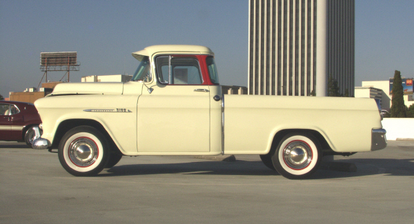1955 CHEVROLET CAMEO CARRIER - Side Profile - 22476