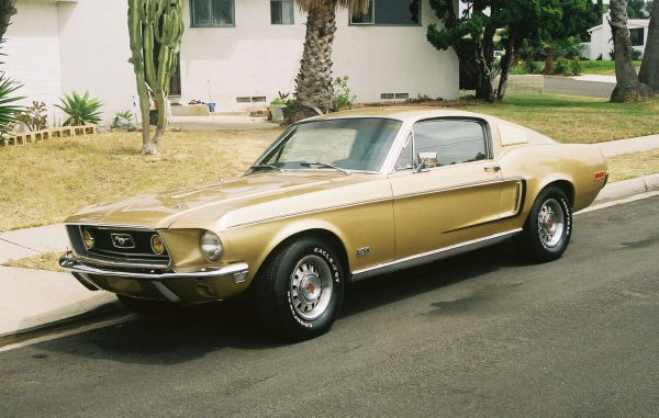 1968 FORD MUSTANG GT FASTBACK - Front 3/4 - 22516