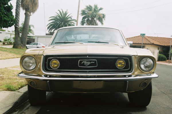 1968 FORD MUSTANG GT FASTBACK - Side Profile - 22516