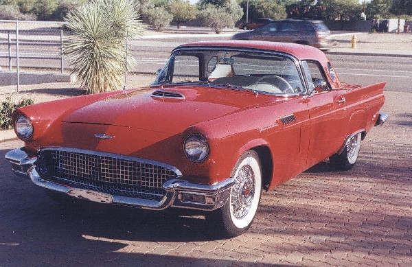 1957 FORD THUNDERBIRD CONVERTIBLE - Front 3/4 - 22567