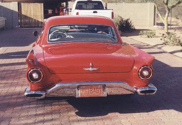 1957 FORD THUNDERBIRD CONVERTIBLE - Rear 3/4 - 22567