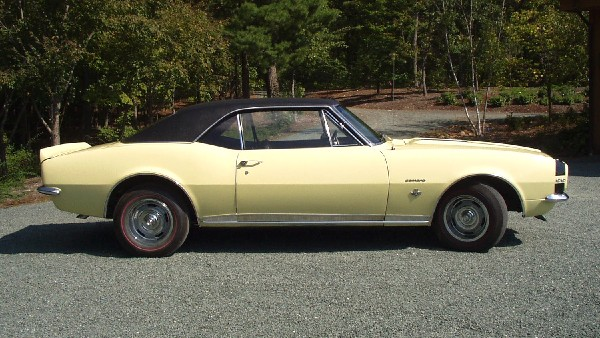 1967 CHEVROLET CAMARO RS/SS COUPE - Side Profile - 22587