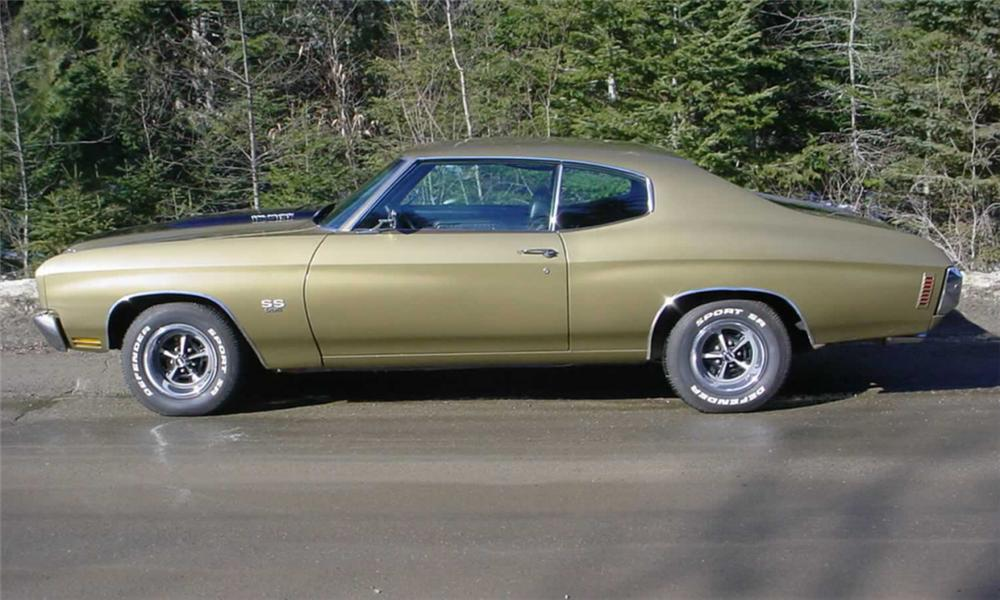 1970 CHEVROLET CHEVELLE SS 396 HARDTOP - Side Profile - 22613