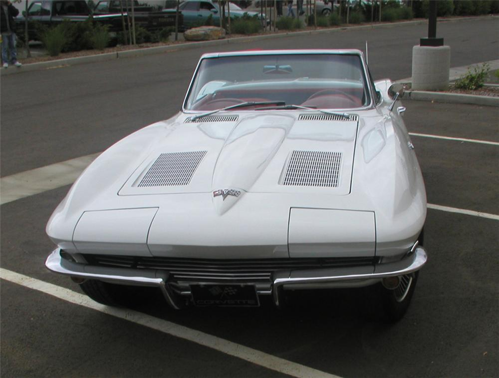 1963 CHEVROLET CORVETTE CONVERTIBLE - Side Profile - 22623