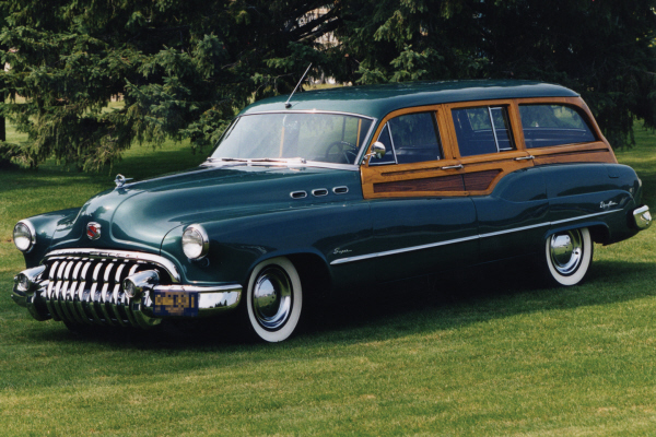 1950 BUICK WOODY SUPER STATION WAGON - Front 3/4 - 22630