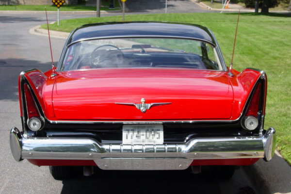 1957 PLYMOUTH BELVEDERE SPORT 2 DOOR HARDTOP - Rear 3/4 - 22632