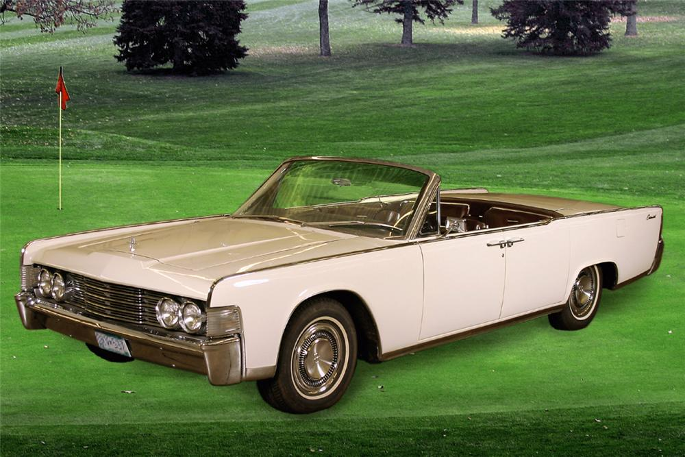 1965 LINCOLN CONTINENTAL CONVERTIBLE - Front 3/4 - 22634