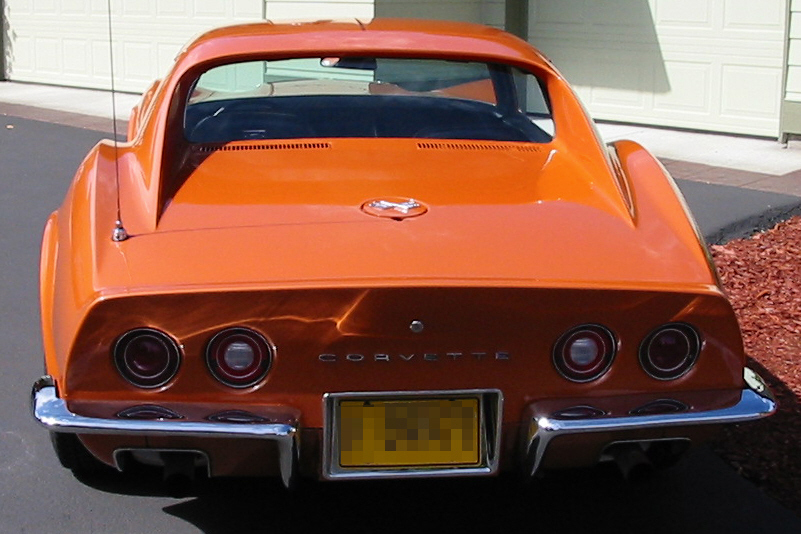 1972 CHEVROLET CORVETTE 454 COUPE - Rear 3/4 - 22638