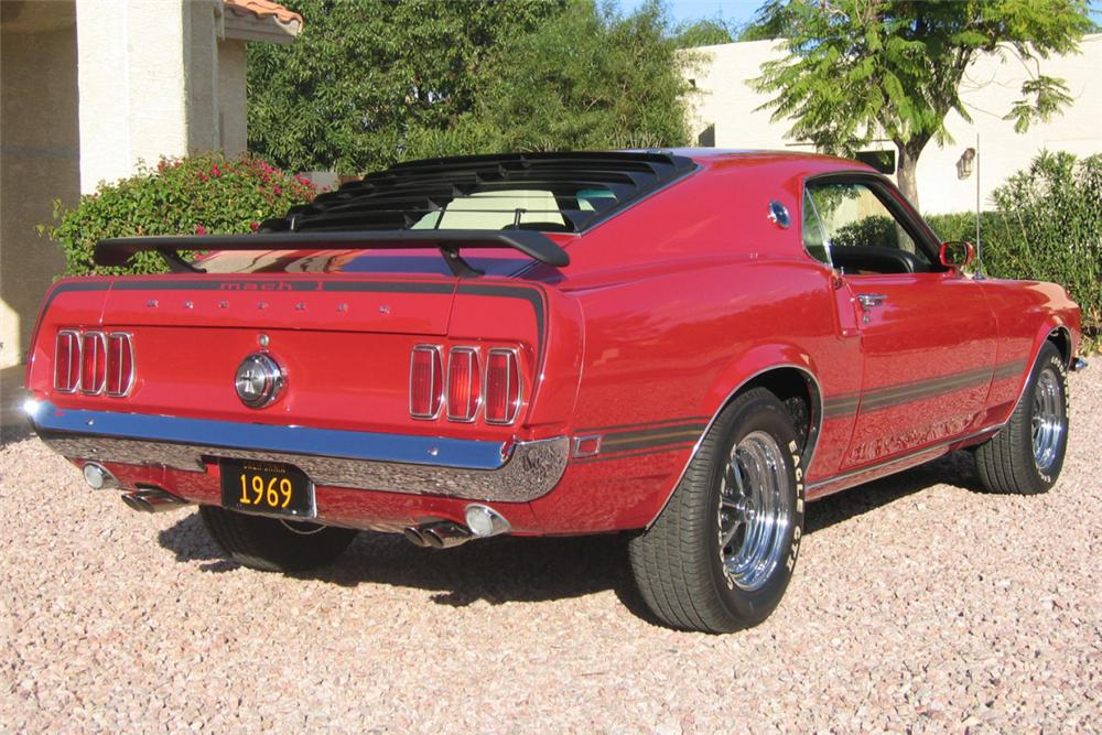 1969 FORD MUSTANG MACH 1 FASTBACK - Rear 3/4 - 22646
