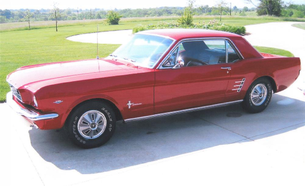 1966 FORD MUSTANG COUPE - Side Profile - 22658