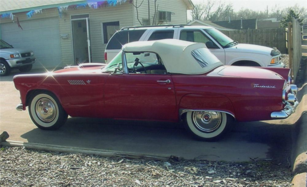 1955 FORD THUNDERBIRD CONVERTIBLE - Side Profile - 22669