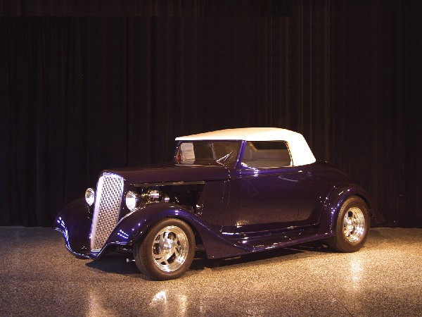 1934 CHEVROLET CABRIOLET STREET ROD - Front 3/4 - 22804