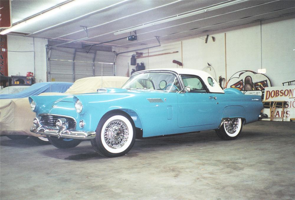 1956 FORD THUNDERBIRD CONVERTIBLE - Front 3/4 - 22811
