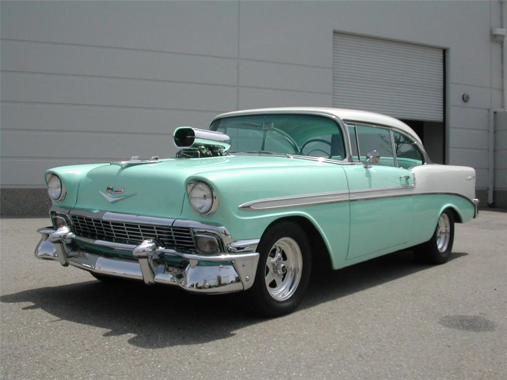 1956 CHEVROLET BEL AIR CUSTOM COUPE - Front 3/4 - 22815