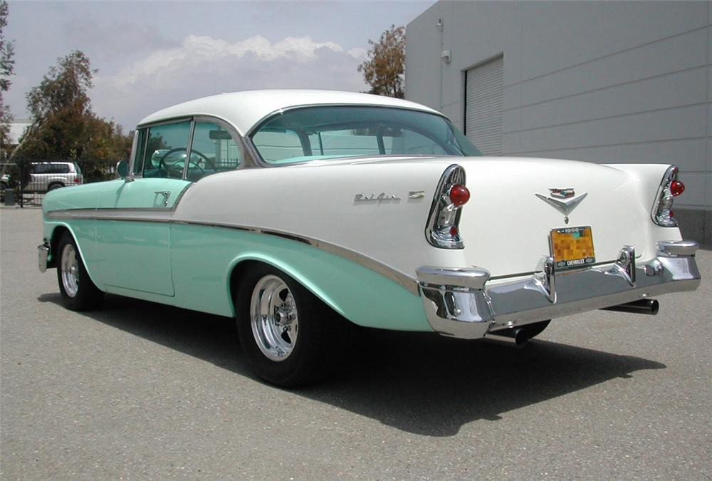 1956 CHEVROLET BEL AIR CUSTOM COUPE - Rear 3/4 - 22815