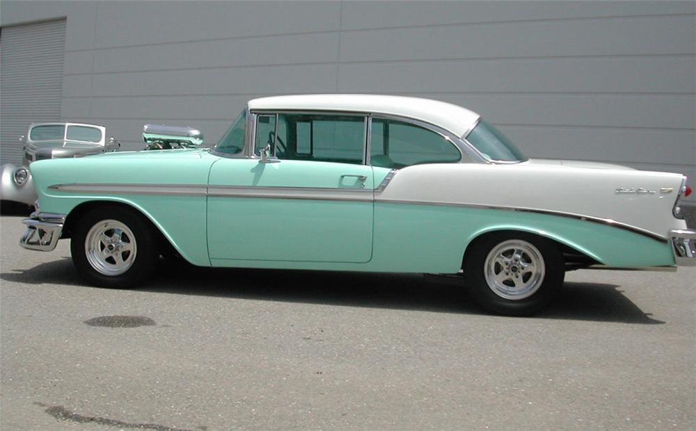 1956 CHEVROLET BEL AIR CUSTOM COUPE - Side Profile - 22815
