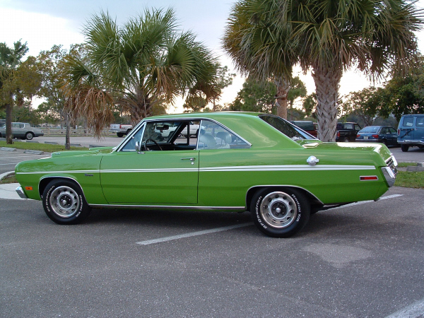 1971 PLYMOUTH SCAMP 2 DOOR COUPE - Side Profile - 22820