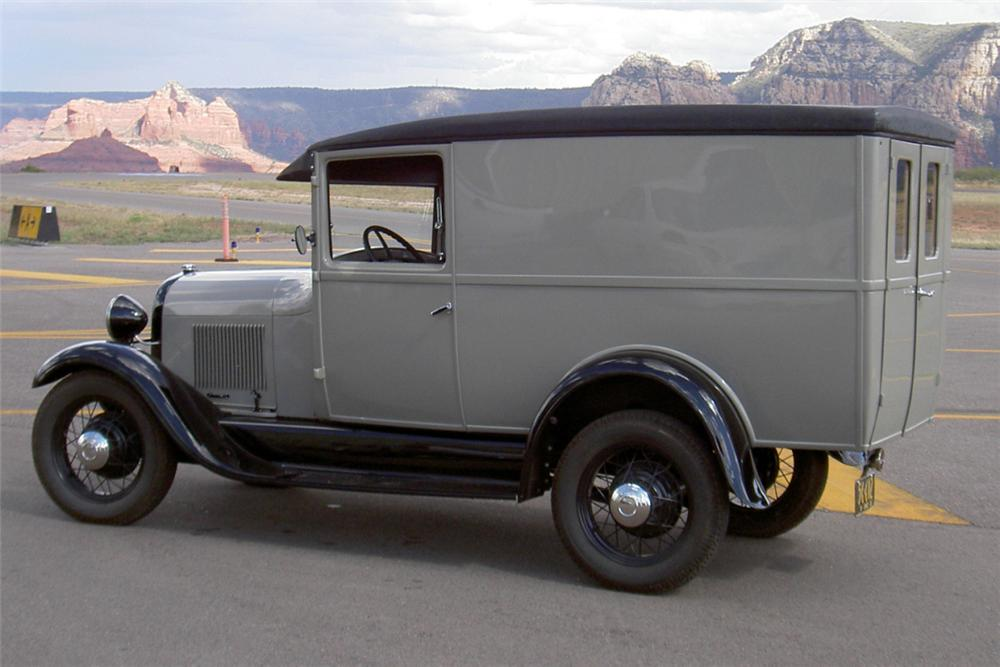 1928 FORD MODEL A DOUBLE DOOR DELIVERY - Side Profile - 22863