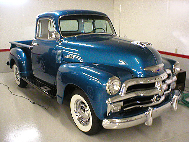 1954 CHEVROLET 3100 DELUXE PICKUP - Side Profile - 22867