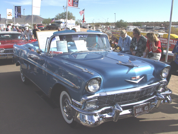 1956 CHEVROLET BEL AIR CONVERTIBLE - Front 3/4 - 22884