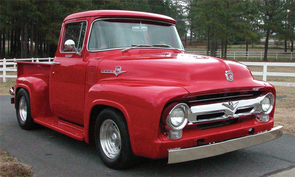 1956 ford f 100 big window custom pickup 22889 for 1956 ford big window