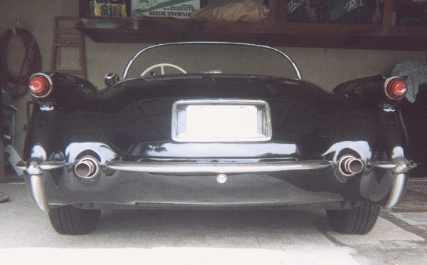 1955 CHEVROLET CORVETTE ROADSTER - Rear 3/4 - 22990