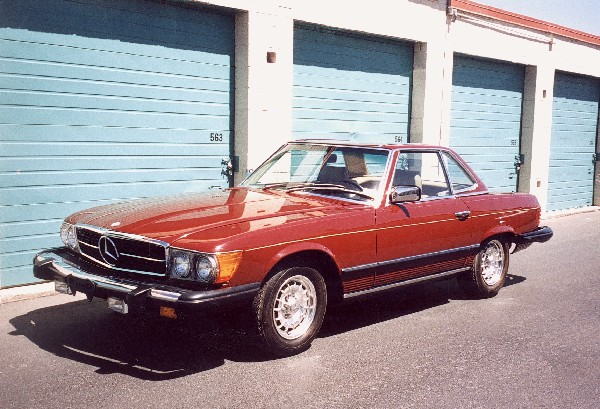 1980 MERCEDES-BENZ 450SL ROADSTER - Front 3/4 - 23020