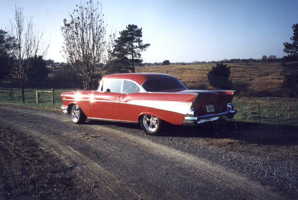 1957 CHEVROLET BEL AIR HARDTOP COUPE - Rear 3/4 - 23024