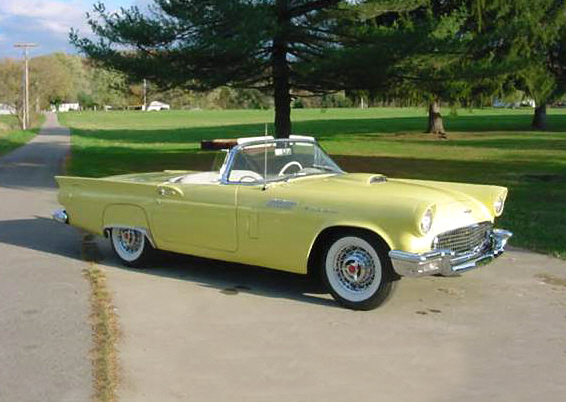 1957 FORD THUNDERBIRD CONVERTIBLE - Front 3/4 - 23037