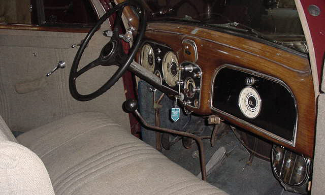 1936 PIERCE-ARROW 1601 CUB SEDAN - Interior - 23045