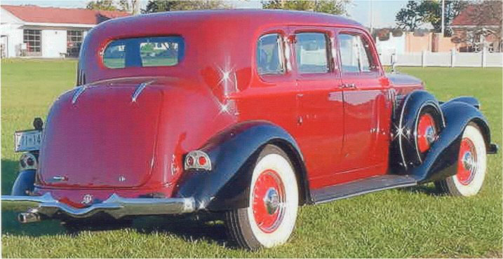 1936 PIERCE-ARROW 1601 CUB SEDAN - Rear 3/4 - 23045