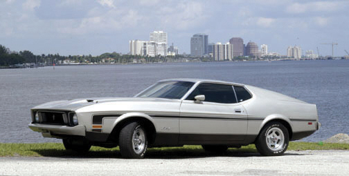 1973 FORD MUSTANG MACH 1 FASTBACK - Side Profile - 23048