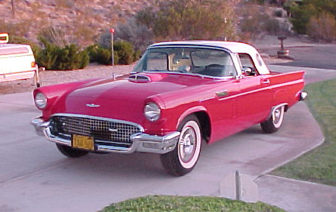 1957 FORD THUNDERBIRD CONVERTIBLE - Front 3/4 - 23058