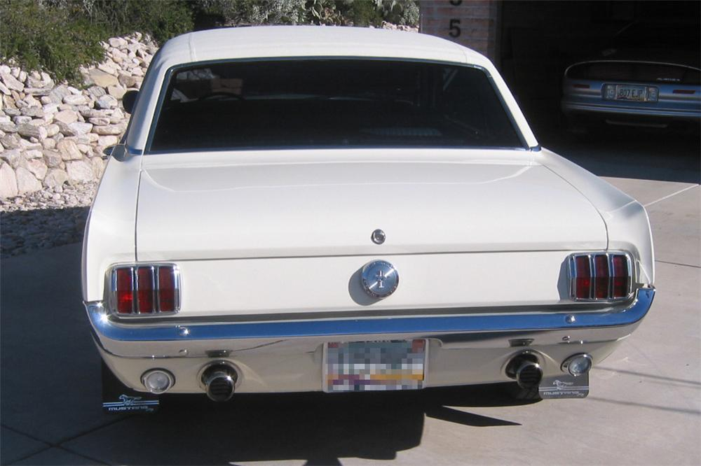 1966 FORD MUSTANG HARDTOP COUPE - Rear 3/4 - 23067