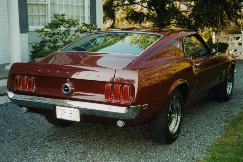 1969 FORD MUSTANG BOSS 429 FASTBACK - Rear 3/4 - 23070