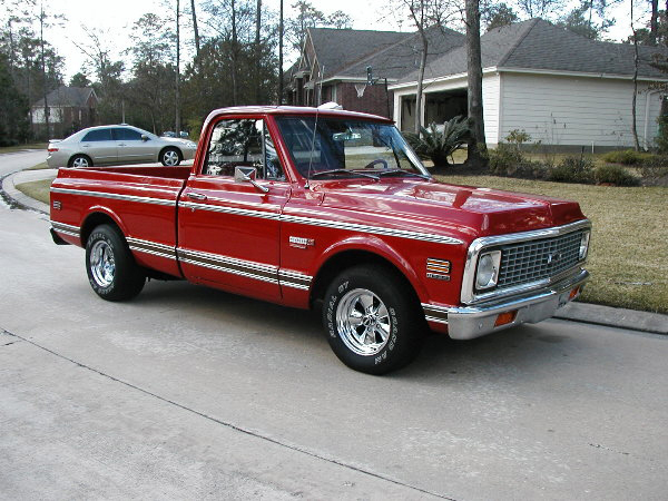 1972 CHEVROLET C-10 SHORT BED PICKUP - Side Profile - 23094