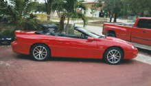 2002 CHEVROLET CAMARO SS 35TH ANNIVERSARY CONVERTIBLE - Front 3/4 - 23095