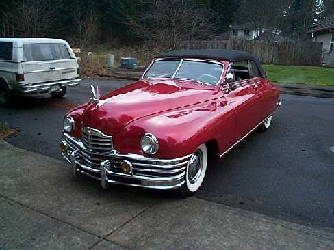 1948 PACKARD CONVERTIBLE - Front 3/4 - 23189
