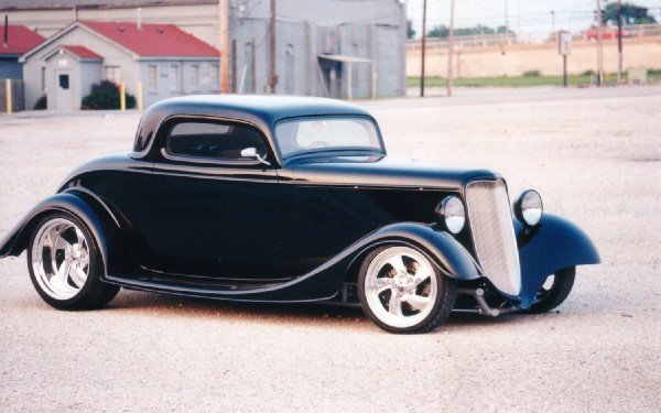 1933 FORD 40 STREET ROD 3-WINDOW COUPE - Front 3/4 - 23203