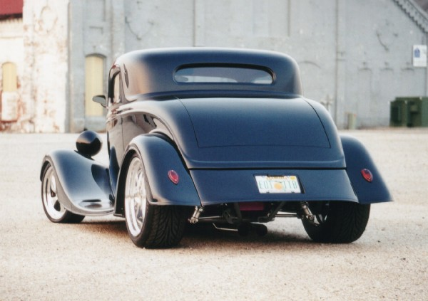 1933 FORD 40 STREET ROD 3-WINDOW COUPE - Rear 3/4 - 23203