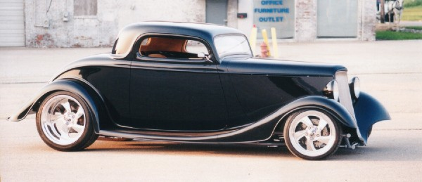 1933 FORD 40 STREET ROD 3-WINDOW COUPE - Side Profile - 23203
