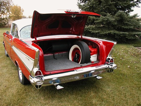 1957 CHEVROLET BEL AIR COUPE - Rear 3/4 - 23222