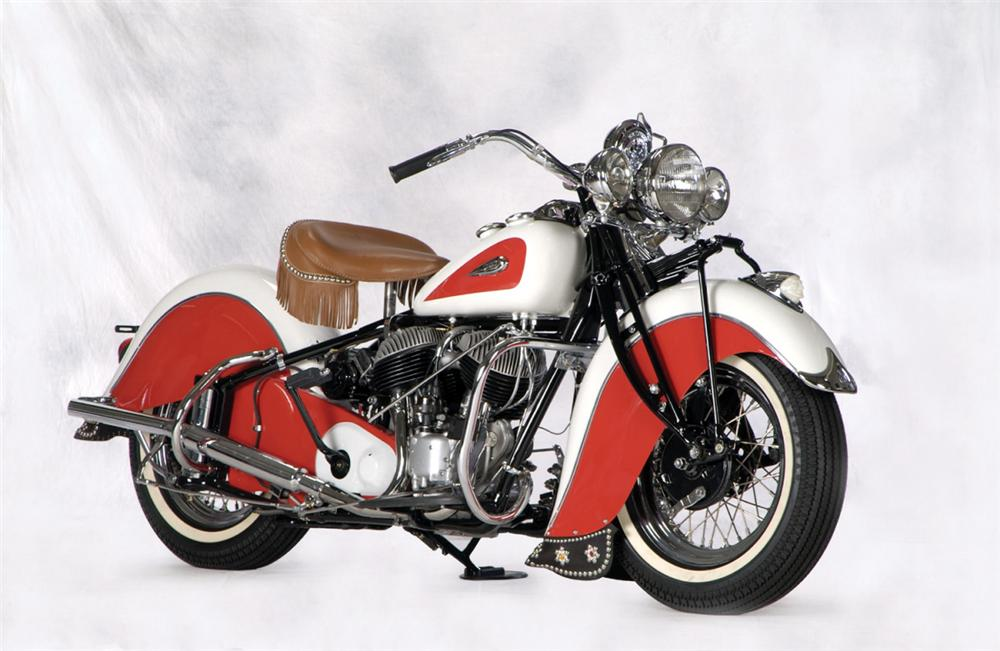 1941 INDIAN CHIEF MOTORCYCLE - Front 3/4 - 23241